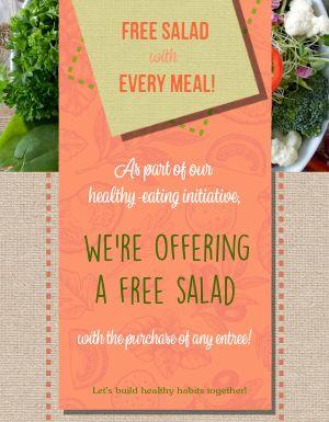 Free Salad Flyer