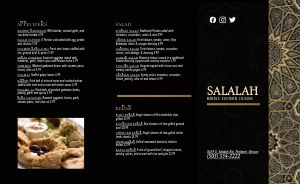 Golden Middle Eastern Takeout Menu