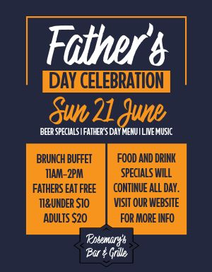 Fathers Day Celebration Flyer