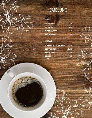 Drip Coffee Menu