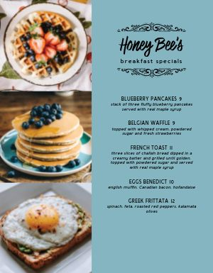 Delicious Breakfast Specials Menu