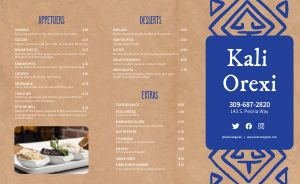 Greek Takeout Menu Sample