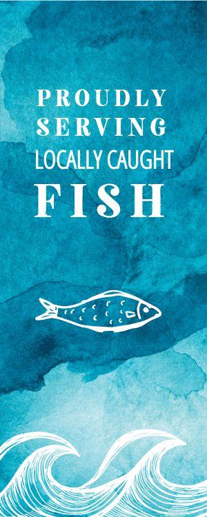 Blue Seafood Half Page Menu