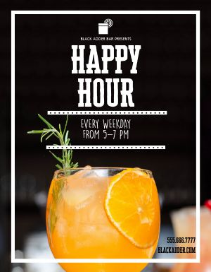 Happy Hour Cocktail Flyer