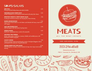BBQ Meats Bifold Takeout Menu
