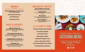Catering Takeout Menu Inspiration