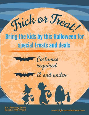 Halloween Trick or Treat Flyer