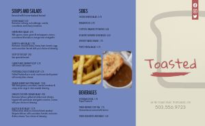 Toast Diner Takeout Menu
