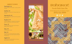 Traditional Middle Eastern Takeout Menu