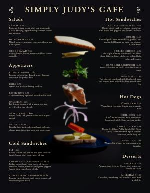 American Cafe Sandwich Menu