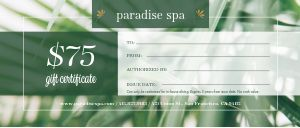 Natural Spa Gift Certificate