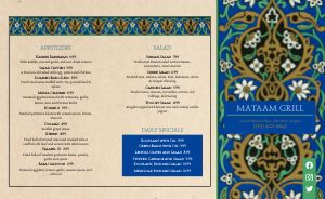 Colorful Middle Eastern Takeout Menu