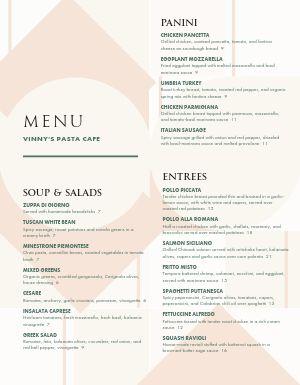 Italian Salad Menu