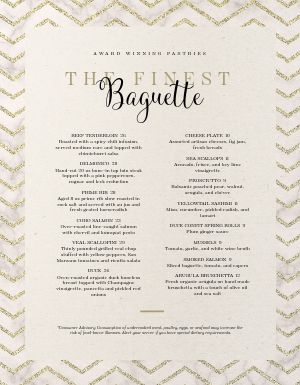 French Award Menu