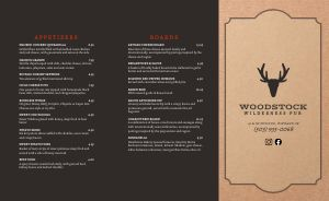 Wilderness Pub Takeout Menu
