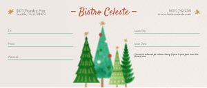 Holiday Trees Gift Certificate