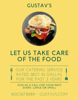 Catering Food Flyer