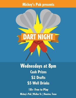 Bar Darts Flyer