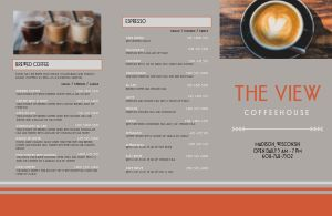 Example Coffee Folded Menu
