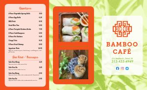 Cafe Vietnamese Takeout Menu