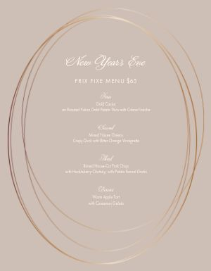 New Years Oval Menu