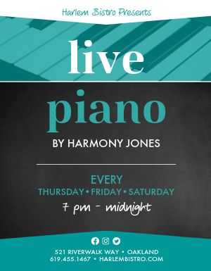 Piano Music Flyer