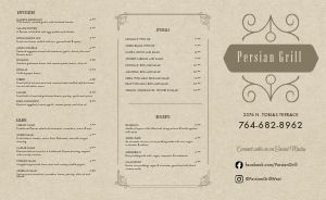 Middle Eastern Food Takeout Menu