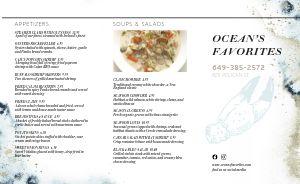 Elevated Seafood Takeout Menu