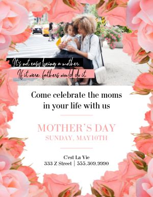 Mothers Day Flower Flyer