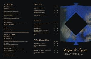 Marvelous Fine Dining Folded Menu