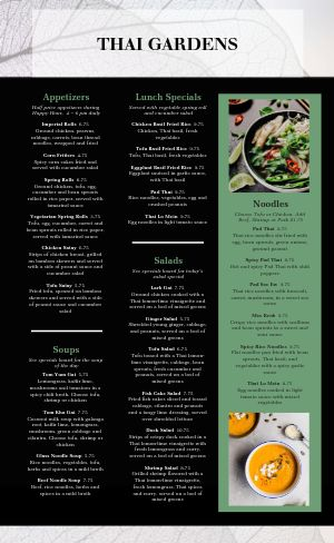 Thai Emerald Menu