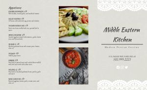 Upscale Middle Eastern Takeout Menu