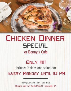 Chicken Dinner Flyer