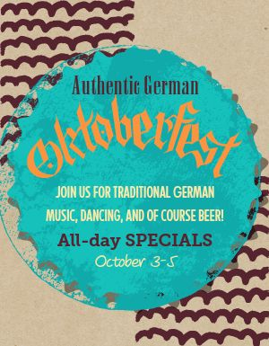 Oktoberfest German Flyer