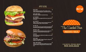 Burger Takeout Menu Idea