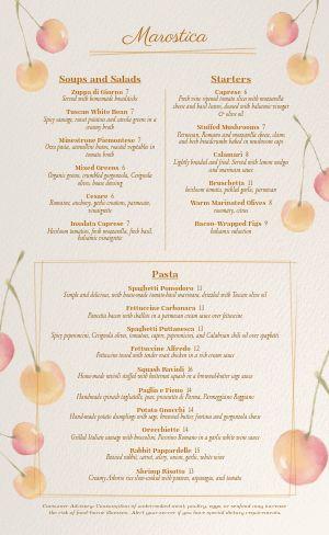 Italian Eatery Menu