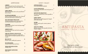 Red Italian Takeout Menu