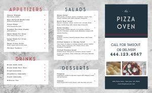 Marble Pizza Takeout Menu