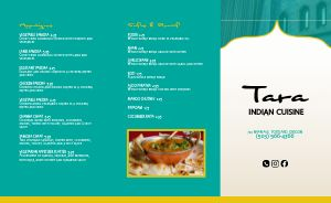 Indian Cuisine Takeout Menu