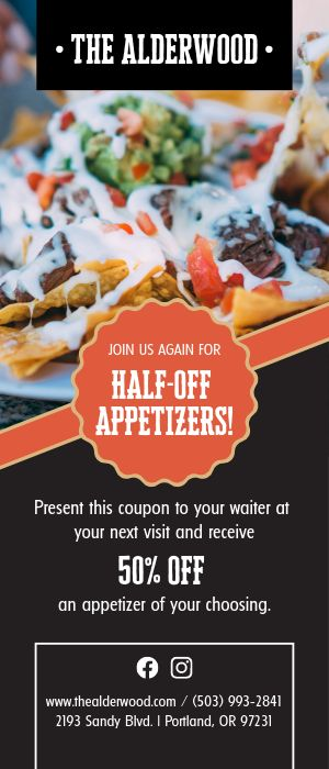 Appetizer Deal Rack Card
