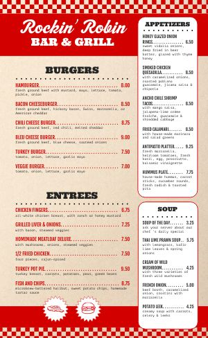 Red Retro Family Menu