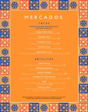 Industrial Mexican Menu