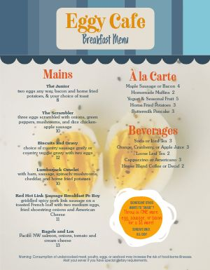 Corner Breakfast Menu