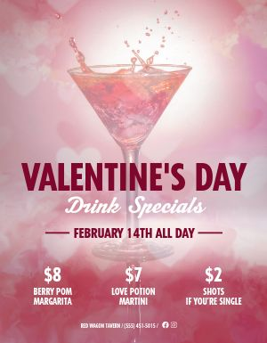 Valentines Day Bar Flyer