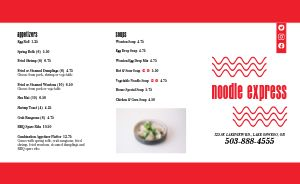 Noodle Chinese Takeout Menu