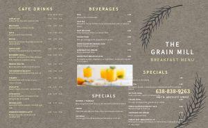 Gray Breakfast Takeout Menu