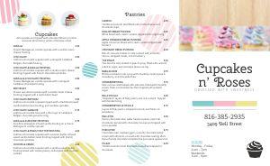 Cupcake Takeout Menu Example