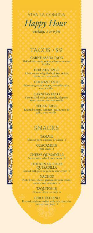 Mexican Cantina Specials Menu