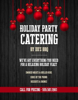 Holiday Catering Flyer
