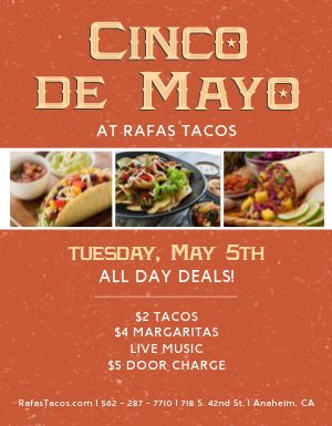 Cinco de Mayo Promo Flyer